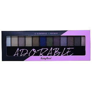 Paleta de Sombras Ruby Rose HB-9909 – Adorable 12 cores com Primer