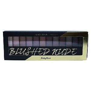 Paleta de Sombras Ruby Rose HB-9913 – Blushed Nude 12 cores com Primer