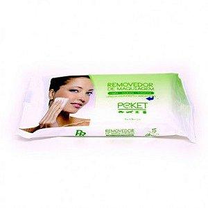 Lenços Removedor de Maquiagens Umedecidos Poket Ruby Rose HB-199 - Verde