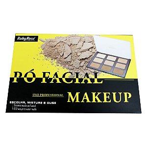 Paleta De Pó Facial Com 9 Cores HB 7208