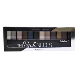 Paleta de Sombras Ruby Rose HB-9914 – The Rock Nudes 12 cores com Primer