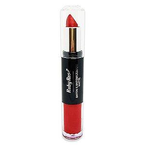 Batom Duo Metalizado Ruby Rose HB-8603 - Cor 19