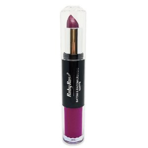 Batom Duo Metalizado Ruby Rose HB-8603 - Cor 215