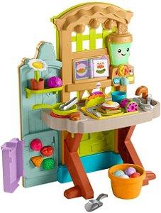 Cozinha para brincar no jardim, cultivar a diversão - Fisher-Price Laugh & Learn