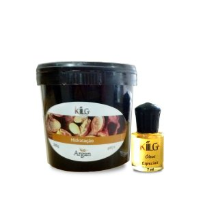 KILLG MÁSCARA HIDRATANTE ARGAN 200G + ÓLEO DE ARGAN 7ML