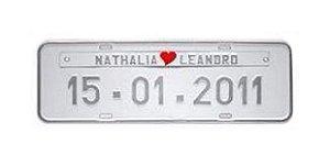 Placa de carro personalizada (Prata)