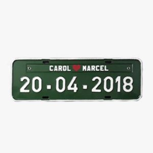 Placa de carro personalizada - verde