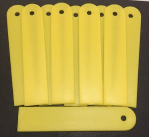 10 Etiquetas E-08 para identificação de plantas - Amarelo