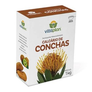 Fertilizante Calcário de Concha 100% Natural - 1Kg