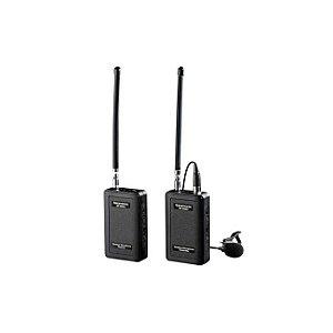 Microfone de Lapela Sem Fio Vhf 4 Canais Audio 60m Saramonic