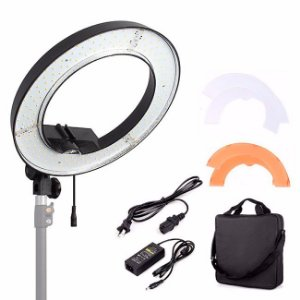 Iluminador Led Ring Light RL-12 + Tripé + Suporte Smartphone