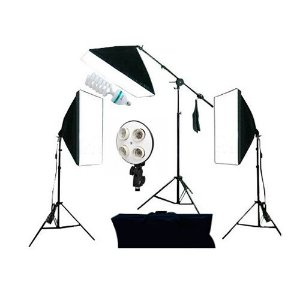 Kit Iluminação Luz Fria Softbox 50x70cm PK-SB03