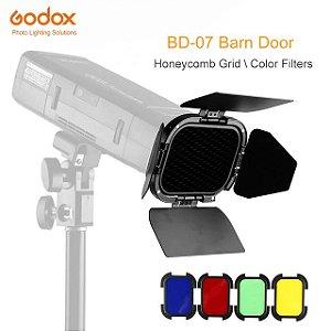 Kit Godox BD-07 - Barndoors Colmeia Filtros de Cor