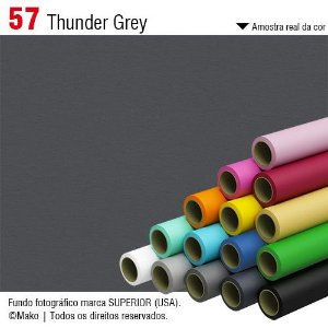 Fundo de Papel Thunder Grey 2,72 x 11m - 057 Made USA