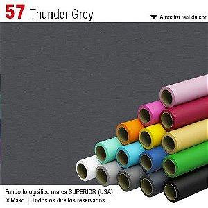 Fundo de Papel Thunder Grey 2,72 x 11m - 057 Made USA