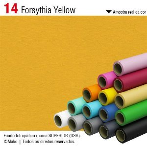 Fundo de Papel Forsythia Yellow 2,72 x 11m