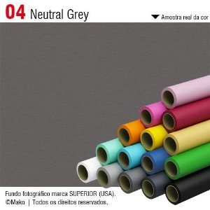 Fundo de Papel Neutral Grey 2,72 x 11m - 004 Made USA