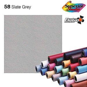 Fundo de Papel Slate Grey 2,72 x 11m - 058 Made USA