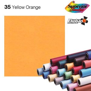 Fundo de Papel Yellow Orange 2,72 x 11m