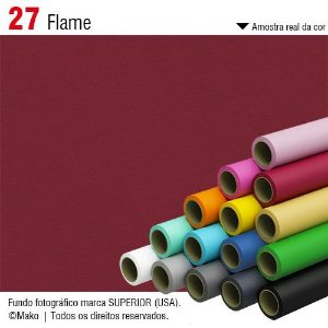 Fundo de Papel Flame 2,72 x 11m