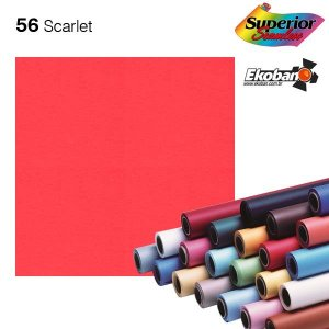 Fundo de Papel Scarlet 2,72 x 11m - 056 Made USA