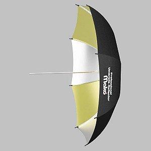 Sombrinha Mako Rebatedora OURO PRATA - 91,5cm