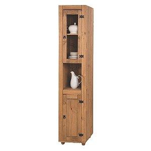 Paneleiro Rústico de Cozinha em madeira Maciça na Cor Cera Mel