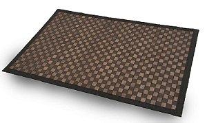 Tapete de Bambu Quadriculado 50cm X 80cm na Cor Chocolate