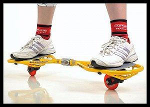 Alt Skate 2 Rodas Amarelo Al-54