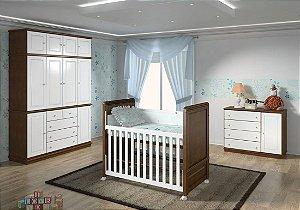 Ambiente Infantil Hércules na Cor Nozes com Branco - Euclar