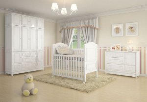 Ambiente Infantil Pérola 2 na Cor Branca - Euclar