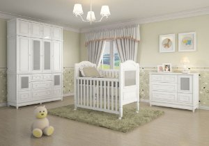 Ambiente Infantil Pérola na Cor Branca - Euclar