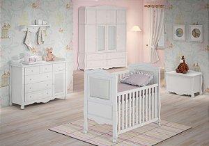 Ambiente Infantil Realeza na Cor Branca - Euclar
