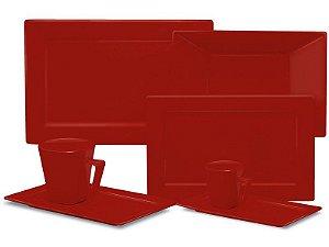 Aparelho de Jantar Plateau - Red com 42 Peças