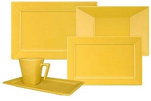 Aparelho de Jantar Plateau - Yellow com 42 Peças