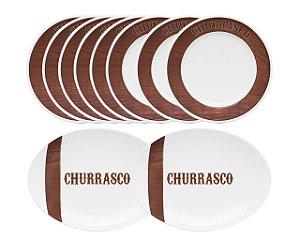Conjunto de Churrasco Tradição com 10 peças
