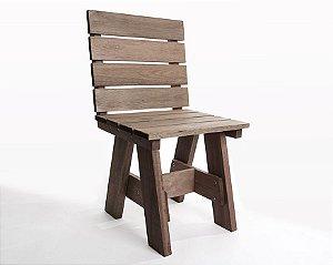 Cadeira Alabama com Encosto em Nogueira