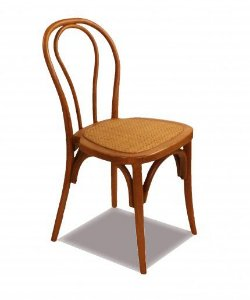Cadeira de Jantar Kediri em Madeira de Carvalho com Assento em Rattan