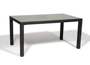Mesa de Aluminio  Nibe Revestida com Fibra Sintética - Preta