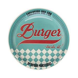 Prato Burger Raso com 26cm de Diamentro, Tematicos dos Anos 50 - Blue