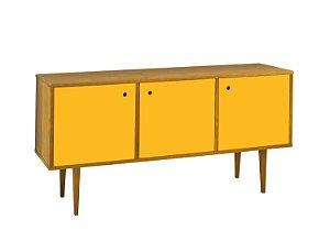 Buffet Vintage com 03 Portas na Cor Amarelo