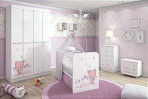 Ambiente infantil Kids Ursinho Rosa