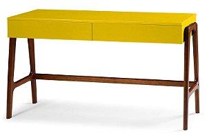 Aparador Escrivaninha Rush Retrô com 2 Gavetas - Amarelo