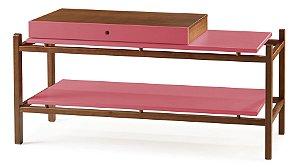 Aparador Uno com Gaveta e Prateleiras - Pink