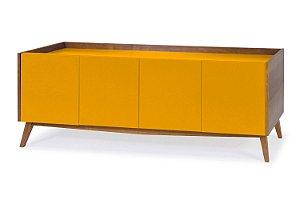 Buffet Novita com 04 Portas na Cor Amarelo