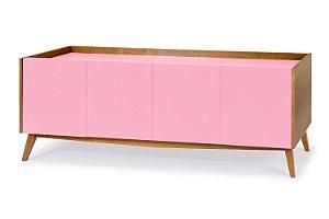 Buffet Novita com 04 Portas na Cor Rosa Cristal