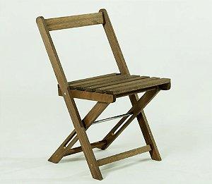 Cadeira Boteco Dobrável na Cor Nogueira