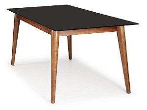 Mesa de jantar Novitá com Tampo de Vidro no tamanho 90cm x 160cm