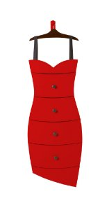 Cômoda Dress na Cor Vermelha