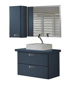 Conjunto de 3 Peças Para Banheiro Kenzo na Cor Azul Marinho
